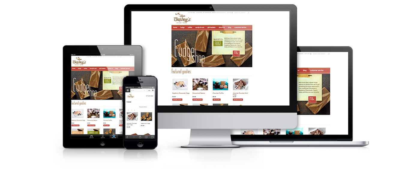 Baileys Fudge & Coffee Shop Website